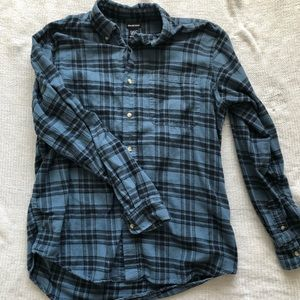 Men's Blue and Black colored flannel